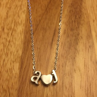 Couple Initial Necklace
