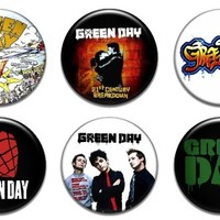 """Set of 6 New Green Day 1.25"""" Pinback Button Badge Pin"""
