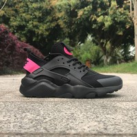 Best Online Sale Nike Air Huarache 4 Rainbow Ultra Breathe Men Women Hurache Black/Pink Running Sport Casual Shoes Sneakers - 110