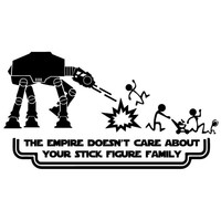 Star Wars STICK FIGURE FAMILY Car Decals
