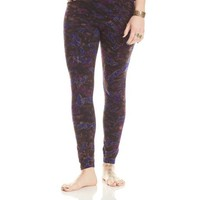 Leggings - Black with Royal and Violet