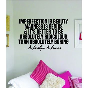 Marilyn Monroe Absolutely Ridiculous Quote Wall Decal Home Decor Bedroom Sticker Vinyl Art Girls Teen Inspirational Beauty