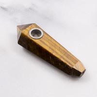 Tigers Eye Crystal Pipe