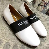 Givenchy Slip-On Women Fashion Leather Flats Shoes