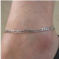 Sexy Ladies Cute Gift New Arrival Shiny Stylish Jewelry Accessory Simple Design Metal Chain Anklet [6768790087]