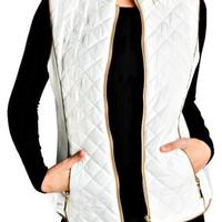 Cloud Nine White Quilted Vest