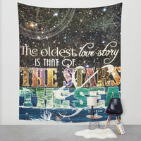The Stars and the Sea Wall Tapestry by Jenndalyn | Society6
