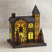 LED Light-Up Spider Haunted House