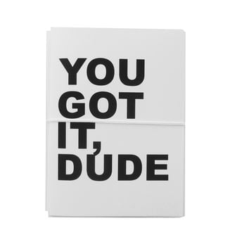 you got it, dude note cards