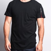 Flight MA-1 Long Length Curved Hem T-Shirt