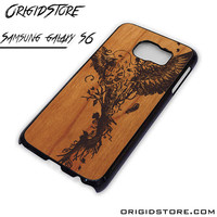 Wood Bird Fly Case For Samsung Galaxy S6 Case