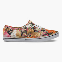 Vans Floral Authentic Lo Pro Womens Shoes Coriander/True White  In Sizes