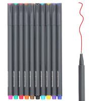 Huhuhero Fineliner Color Pen Set 0.38 mm Fine Line Drawing Pen Porous Fine Point Markers Perfect for Coloring Book and Bullet Journal Art Projects Pack of 10