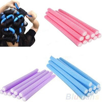 10Pcs Curler Makers Soft Foam Bendy Twist Curls Tool DIY Styling Hair Rollers = 1946228548