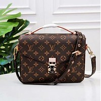 """LV"" Bag Louis Vuitton Bag Women's Fashion Printed Vintage Shoulder Bags Small Square Bag High Quality"