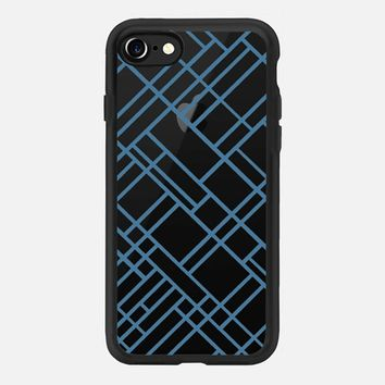 Map Outline 45 Blue Transparent iPhone 7 Case by Project M | Casetify