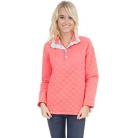The Lawson Quilted Pullover in Coral by Lauren James
