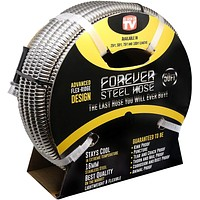 FOREVER STEEL HOSE | 50FT 304 Heavy Duty Stainless Steel Metal Garden Water Hose - Kink Free, Flexible, Expandable, Lightweight | UV Resistant | Stays Cool in Summers, Never Frozen in Winter 50 Foot