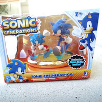 SONIC GENERATIONS STATUE 2-Pack Sonic The Hedgehog mintin sealed box