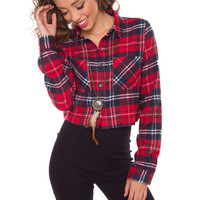 Mirabelle Plaid Crop Top