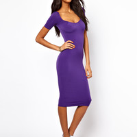 Oh My Love | Oh My Love Midi Dress with Square Neck at ASOS