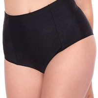American Apparel Nylon Tricot High-Waist Swim Brief - Black / L