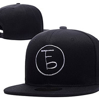 HAISHEN The Front Bottoms Logo Adjustable Snapback Embroidery Hats Caps - Black