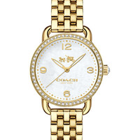 COACH Women's Delancey Gold-Tone Stainless Steel Bracelet Watch 28mm 14502478 - Watches - Jewelry & Watches - Macy's
