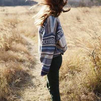 Mystery Oversized Hipster Grunge Sweater