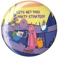 Let's Get The Party Started Adventure Time Badge - Buy Online at Grindstore.com