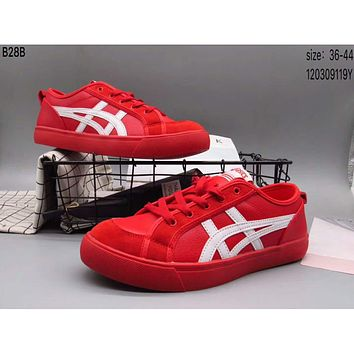 ASICS Yaseshi men and women fashion casual shoes F-A36H-MY Red + white line