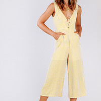 High Rise Button Up Jumpsuit