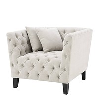 Sand Deep-Buttoned Accent Chair | Eichholtz Jason