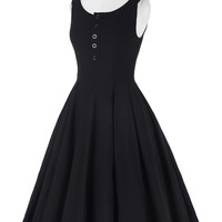Women Summer Style 2017 Audrey Hepburn Retro Vintage Sleeveless Scoop Neck High Stretchy Flare Ball Gown 50s Rockabilly Dresses