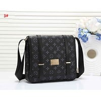 LV New fashion monogram check  leather couple shoulder bag 3#