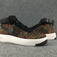 Women's and men's nike air force FLYKNIT cheap nike shoes a111