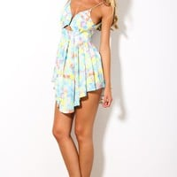 HelloMolly | Pastel Me Happy Dress Green