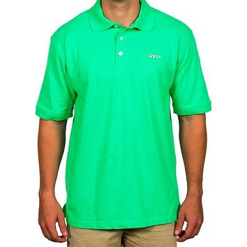 Longshanks Embroidered Patch Polo in Green by Country Club Prep