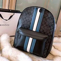 Coach High Quality Fashionable Women Men Casual Leather Shoulder School Bag Backpack