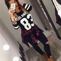Floral Printed Floral Printed Casual Loose Sports Hoodies Long Sleeve Round Necked Pullover Sweatshirt Shirt Top _ 6151