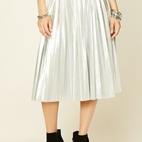 Faux Leather Midi Skirt