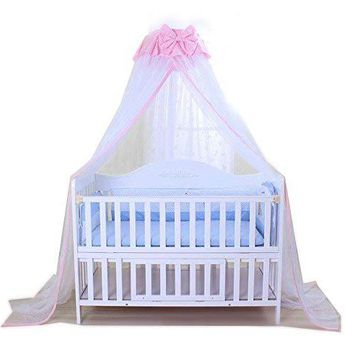 A Baby Mosquito Net Baby Toddler Bed Crib Dome Canopy Netting