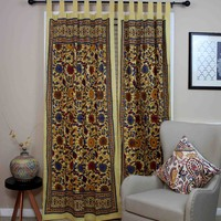 Tab Top Curtain Drape Sunflower Floral 44x88 Cotton Kitchen Door Panel