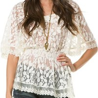 ANGIE LACE CINCHED TOP | Swell.com