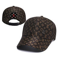 LV Louis Vuitton Women Men Fashion Sunhat Embroidery Baseball Cap Hat