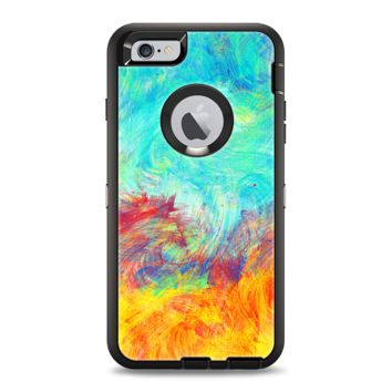 The Vibrant Colored Messy Painted Canvas Apple iPhone 6 Plus Otterbox Defender Case Skin