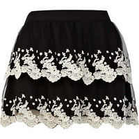 Black lace tiered skirt - skirts - sale - women