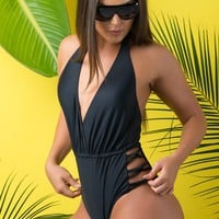 Mermaid Cove One Piece Swimsuit Black