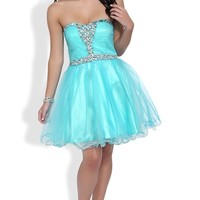 Dress with Stone Bust and Mesh Horsehair Skirt