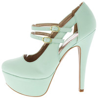 May Jane Teal Shoes